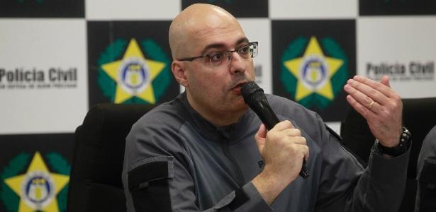 22.ago.2018 - Delegado da DECOD (Delegacia de Combate as Drogas), Felipe Cury, explica operação em favelas no Rio de Janeiro - Maíra Coelho/Estadão Conteúdo