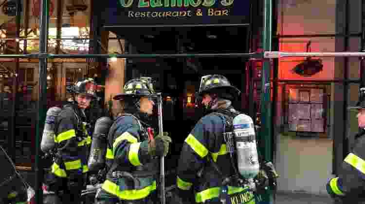Bombeiros de Nova York debelaram um incêndio em um prédio da Times Square - Divulgação/Corpo de Bombeiros de Nova York
