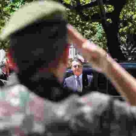 O presidente Jair Bolsonaro na Escola de Comando e Estado-Maior do Exército  - Marcos Corrêa/PR