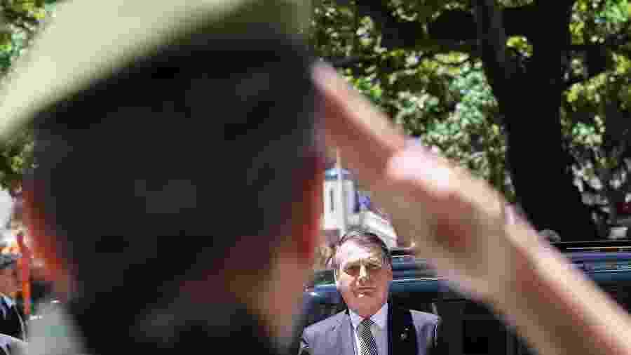 O presidente Jair Bolsonaro, na Escola de Comando e Estado-Maior do Exército  - Marcos Corrêa/PR