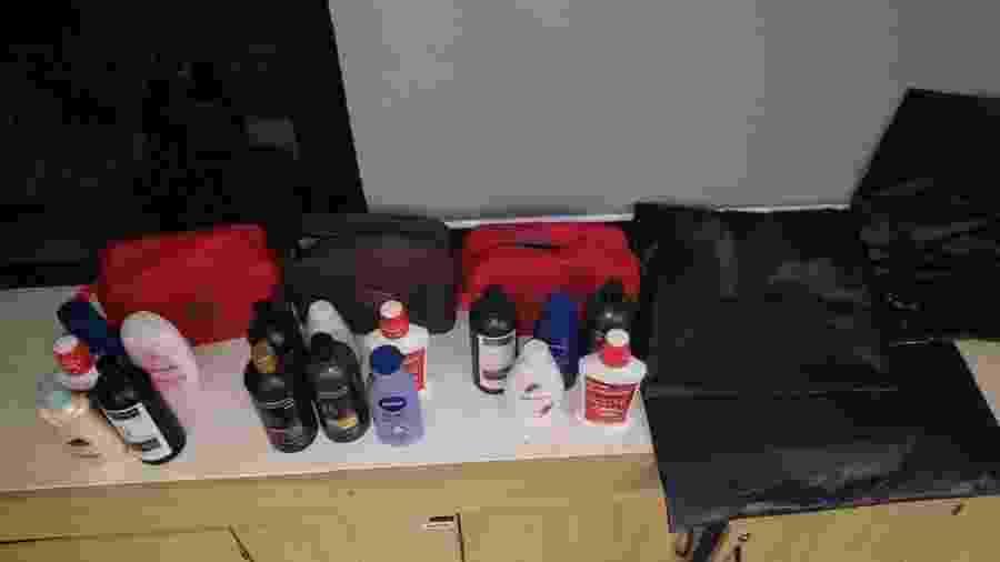 Drogas estavam em meio a produtos de higiene pessoal - Divulgação/PF