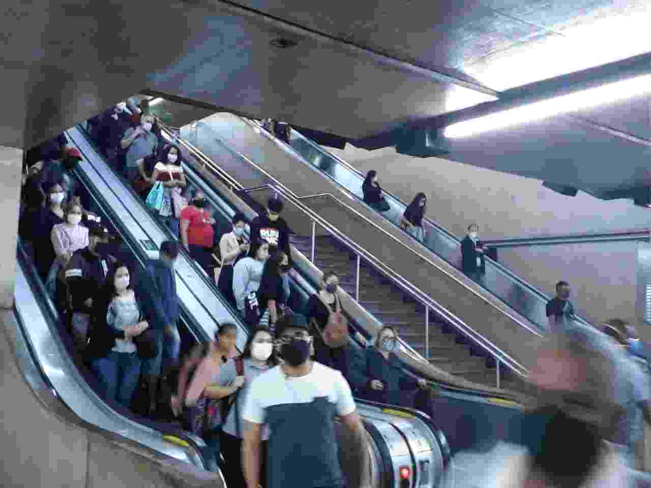 Estação Sé, acesso para a plataforma Jabaquara - Marcelo Oliveira/UOL