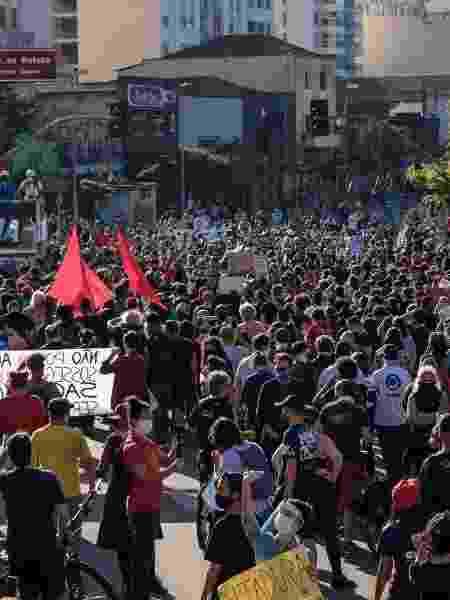 Movimentação durante manifestação no Largo do Batata, na cidade de São Paulo - ETTORE CHIEREGUINI/ESTADÃO CONTEÚDO