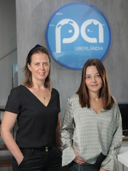 Ana Luisa Benchimol (à esq.) e Helen Vieira são sócias da Plamev Pet Uberlândia, de venda de planos de saúde para animais - Divulgação
