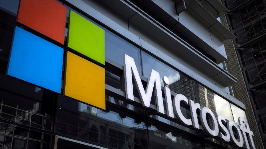 Logo da Microsoft no prédio da empresa em Nova York, nos EUA - REUTERS/Mike Segar