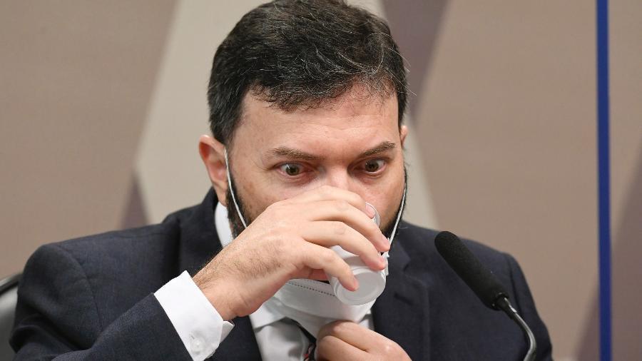 Coronel Marcelo Blanco durante depoimento à CPI da Covid - Jefferson Rudy/Agência Senado