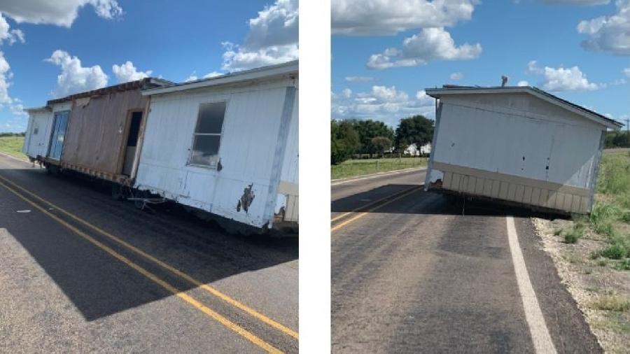 Casa móvel foi abandonada no Texas, nos EUA - Divulgação/Polícia do Condado de Kaufman