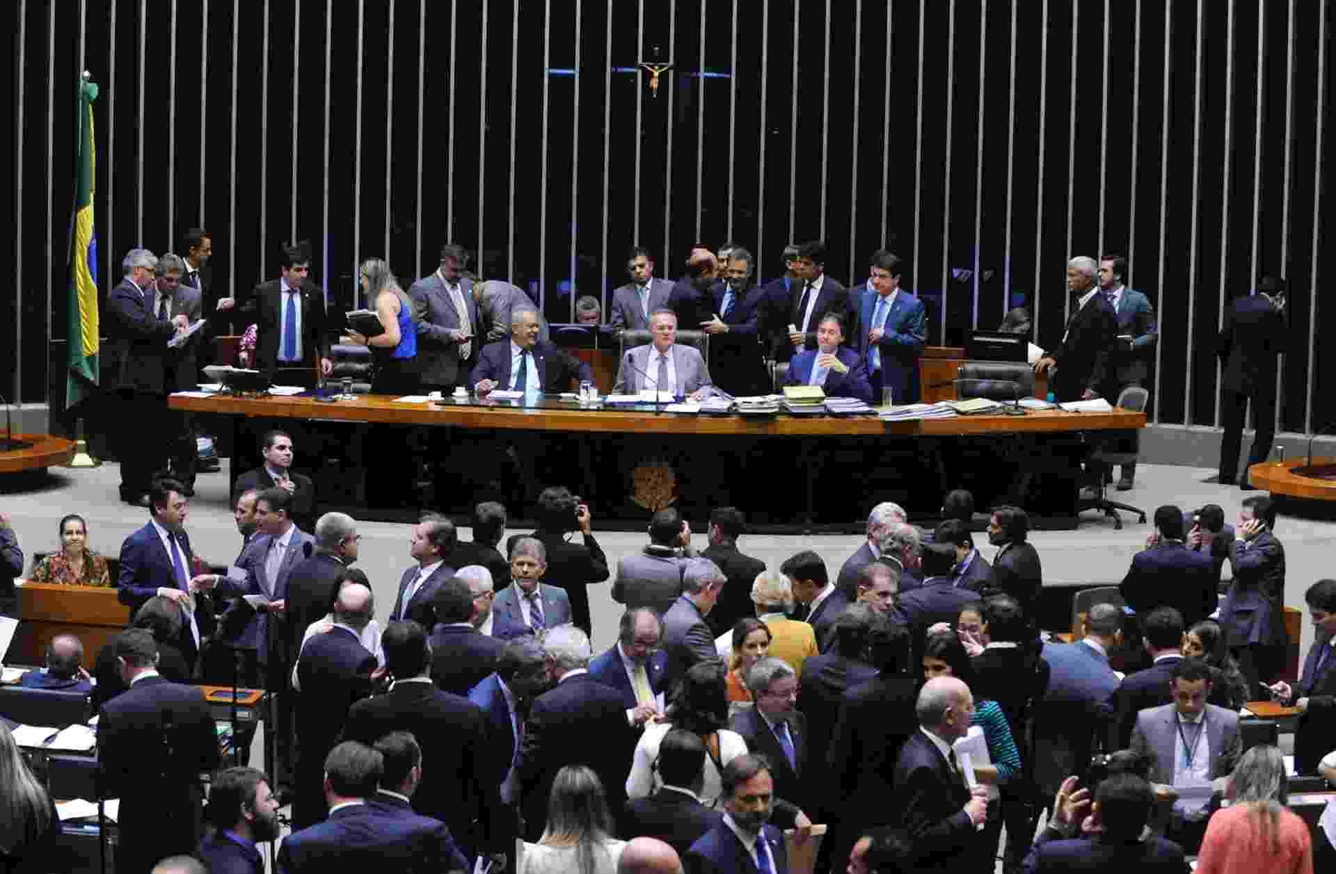 25.mai.2016 - Renan Calheiros (PMDB-AL) preside sessão do Congresso que aprovou a mudança de meta fiscal do governo Temer - Luis Macedo/Câmara dos Deputados