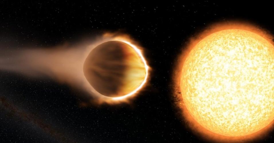 WASP-121b, novo exploneta encontrado, está bem próximo a sua estrela