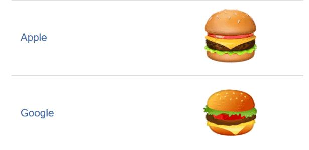 Burger emoji - Reprodução - Reprodução