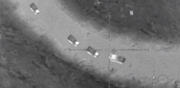Imagem (supostamente falsa) divulgada pelo Ministério de Defesa da Rússia