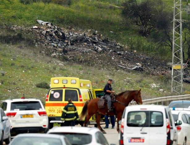 Um caça de Israel foi atingido durante uma operação militar contra alvos iranianos na Síria e caiu em território israelense