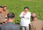 Ocupado com batatas, Kim não recebeu o secretário de Estado dos EUA (Foto: Xinhua/KCNA)