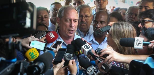 Ciro Gomes, participa de encontro com a militância na sede do partido em São Paulo