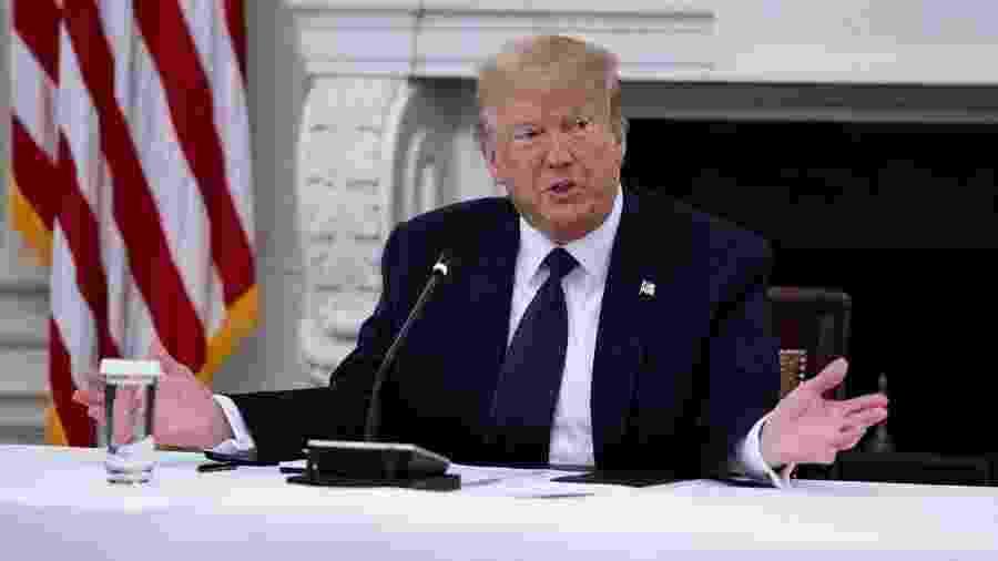 """O presidente americano negou ter sido informado sobre este assunto e afirmou que seus serviços secretos não consideraram a informação como """"confiável"""" - POOL / GETTY IMAGES NORTH AMERICA / Getty Images via AFP"""