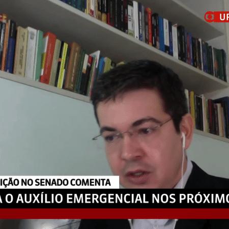 Líder da oposição no Senado, Randolfe Rodrigues (Rede-AP) defende extensão do auxílio emergencial - Reprodução