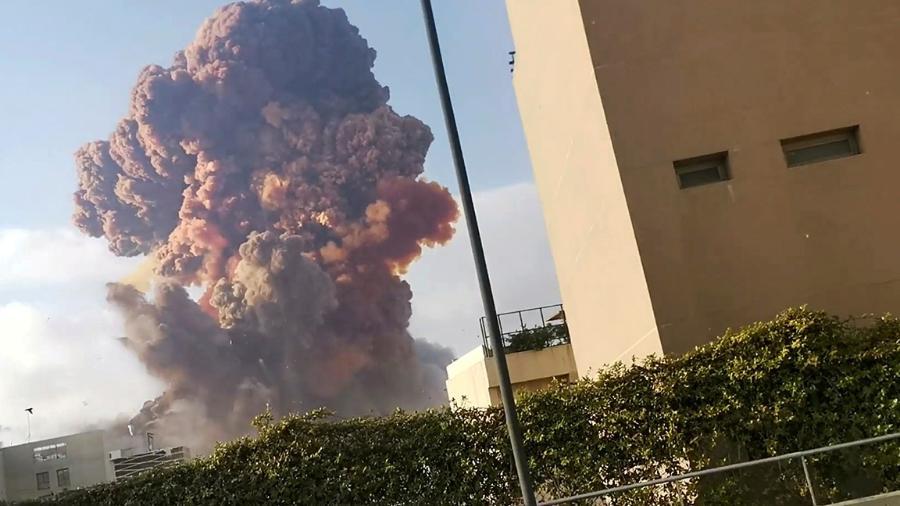 Explosão na região portuária de Beirute em setembro de 2020 - Social Media