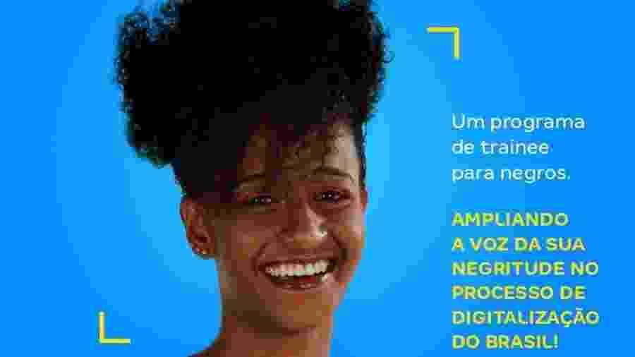 Anúncio do primeiro processo seletivo exclusivo para admissão de trainees negros pelo Magazine Luiza gerou polêmica nas redes sociais - Divulgação/Magazine Luiza