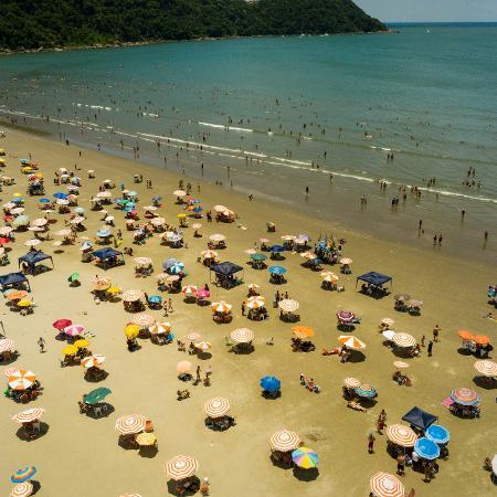 Praia Grande, litoral sul de São Paulo - FELIPE RAU/ESTADÃO CONTEÚDO