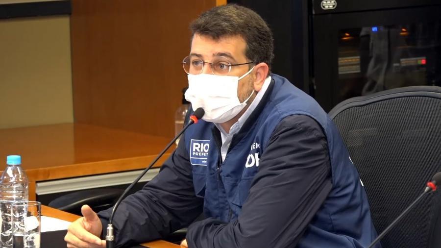 Secretário Municipal de Saúde do Rio de Janeiro, Daniel Soranz, disse que a prefeitura vai procurar as pessoas a partir de 60 anos que não se vacinaram contra o novo coronavírus - Reprodução/Youtube