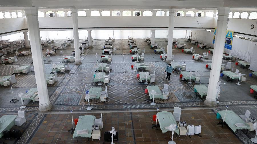 Centro de tratamento para a covid-19 de Gurudwara (Templo Sikh), em Nova Delhi, na Índia - Adnan Abidi/Reuters