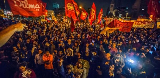 Forte aparato de segurança marca protesto contra Temer em São Paulo - Cris Faga/Fox Press Photo