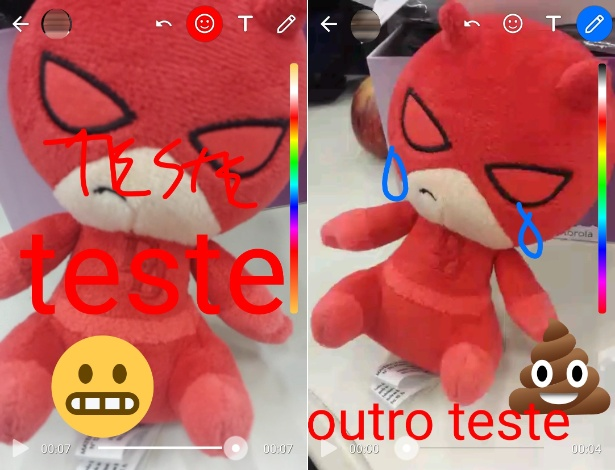 WhatsApp coloca ferramenta de emojis, caneta e texto para vídeos