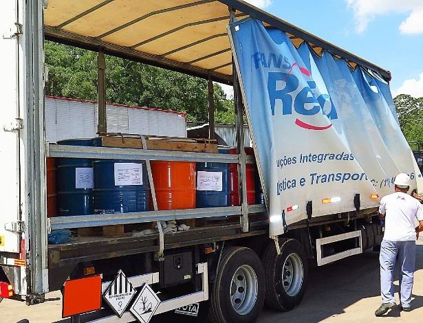 Lixo tóxico recolhido pela Faex Soluções Ambientais, de São Roque (SP)