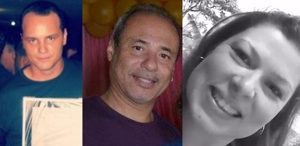 A partir da esq., o agente do presídio federal de Catanduvas (PR) Alex Belarmino Almeida Silva, o agente do presídio federal de Mossoró (RN) Henry Charles Gama Filho e a psicóloga Melissa de Almeida Araújo, mortos a mando do PCC
