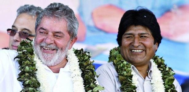 O presidente da Bolívia, Evo Morales, publicou no Twitter foto ao lado de Lula (28.out.2017) - Reprodução/Twitter @evoespueblo