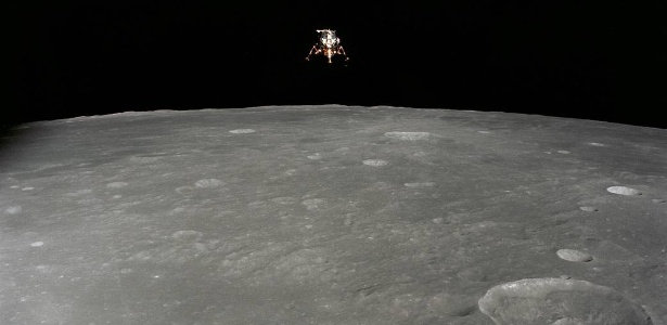 Módulo lunar Apollo 12 em 19 de novembro de 1969