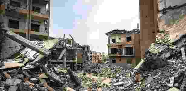 Ruínas de bairro em Raqqa, na Síria, antes dominado pelo Estado Islâmico - Ivor Prickett/The New York Times