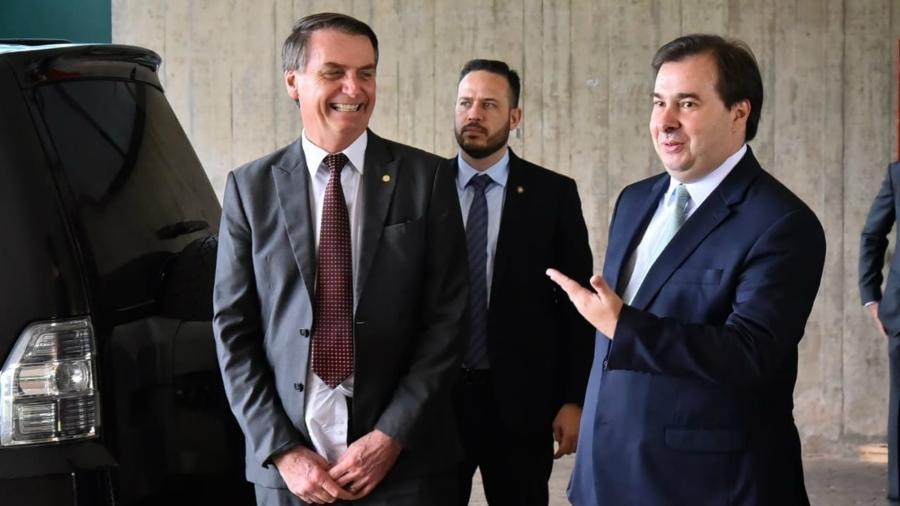 Bolsonaro e Maia juntos em novembro de 2018 - Rafael Carvalho/Governo de Transição
