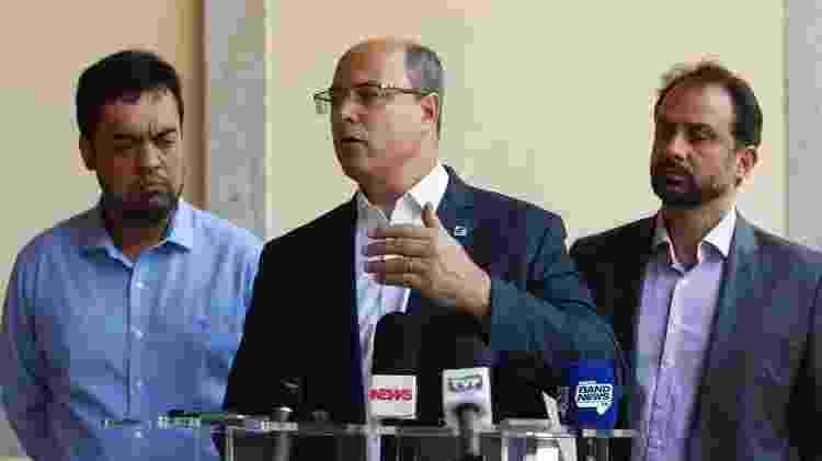 O governador do Rio de Janeiro, Wilson Witzel,  no Palácio Guanabara - Tomaz Silva/Agência Brasil