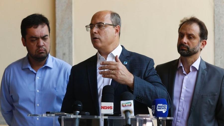 O governador do Rio de Janeiro, Wilson Witzel (PSC), em entrevista à imprensa  - Tomaz Silva/Agência Brasil