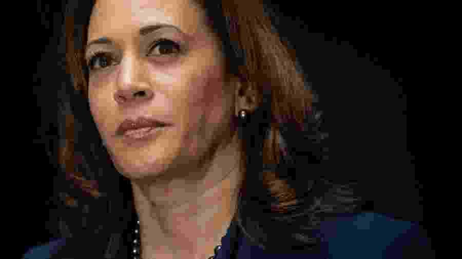 21.jan.2019 - A senadora Kamala Harris, da Califórnia, anunciou sua intenção de concorrer à Presidência dos Estados Unidos em 2020 pelo partido Democrata - AFP