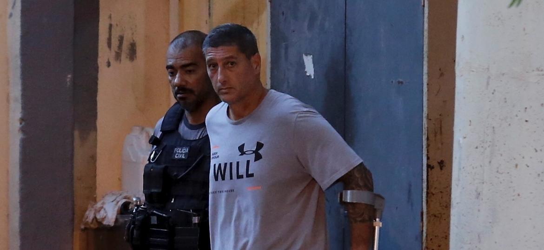 O policial militar reformado Ronnie Lessa, acusado de matar Marielle Franco - Marcelo Theobald/Agência O Globo