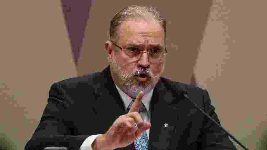 Augusto Aras durante sessão da CCJ no Senado - Pedro Ladeira/Folhapress, PODER