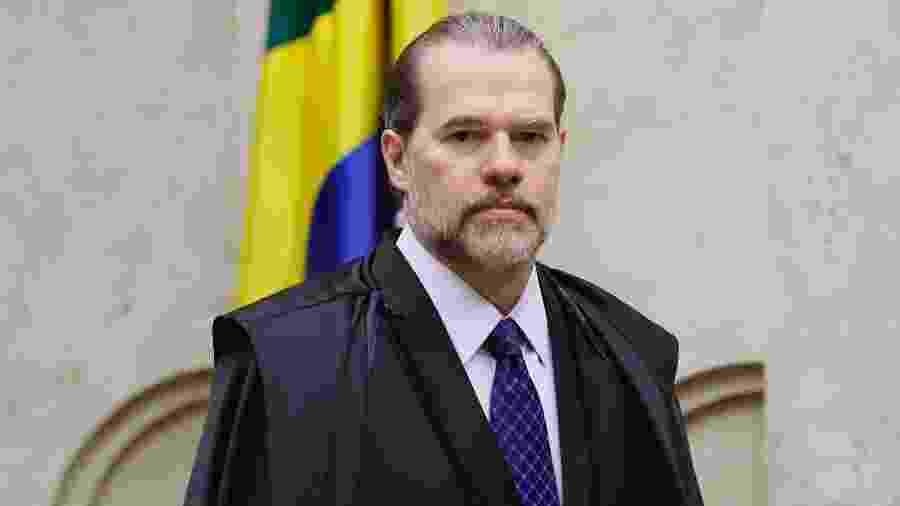 7.nov.2019 - Dias Toffoli, presidente do STF, no plenário para julgamento de ações sobre prisão em segunda instância - Rosinei Coutinho/SCO/STF