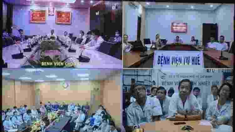 Médicos de vários hospitais discutiram a condição do Paciente 91 - VIETNAMESE GOVERNMENT - VIETNAMESE GOVERNMENT