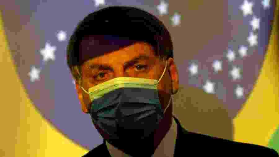 Presidente Jair Bolsonaro durante cerimônia no Ministério de Minas e Energia, em Brasília - ADRIANO MACHADO