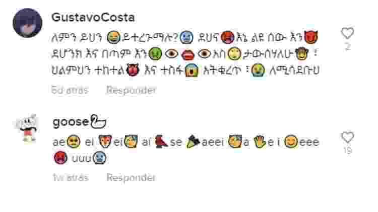 Emojis no TikTok  - Reprodução - Reprodução