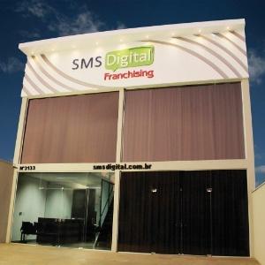 Franquia SMS Digital. Rede atua na área de comunicação, informática e eletrônicos
