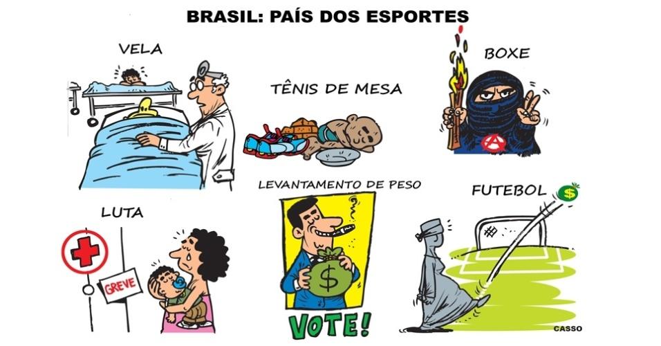 12.jul.2016 - No Brasil, o treinamento para as Olimpíadas foi outro