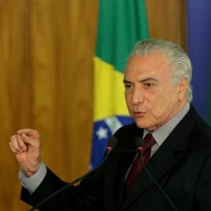 O presidente da República, Michel Temer, criticou movimento de PMs