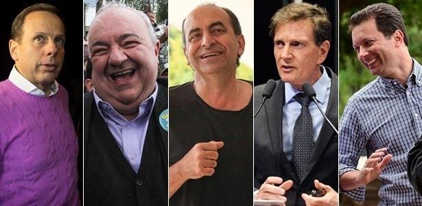 João Doria (PSDB), Rafael Greca (PMN), Alexandre Kalil (PHS), Marcelo Crivella (PRB) e Nelson Marchezan Jr. (PSDB)