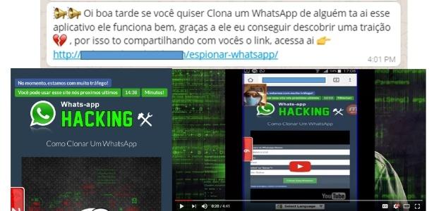 Golpe que promete clonagem de WhatsApp