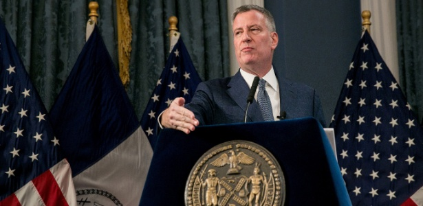 Prefeito de Nova York, Bill de Blasio - Sam Hodgson/The New York Times/Reuters