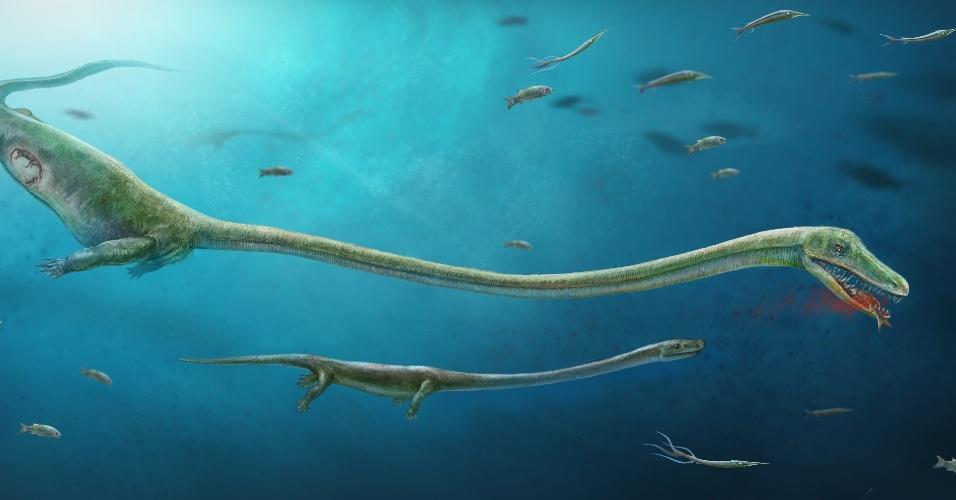 13.fev.2017 - Dinossauros davam à luz por parto e evoluíram para botar ovos