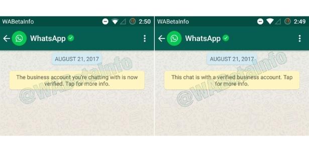 Recurso de contas verificadas do WhatsApp em fase de testes